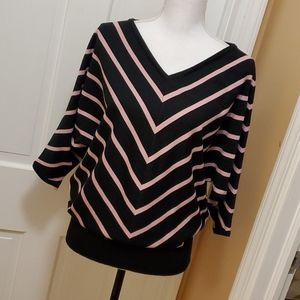 Premise pink/black sweater -L